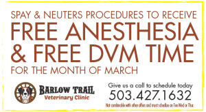 Barlow Trail Spay-Coupon